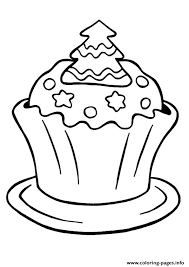 Small Picture christmas cupcake Coloring pages Printable