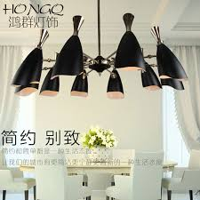 get ations after minimalist modern scandinavian designer new bull horn black glass chandelier creative personality bars and clubs