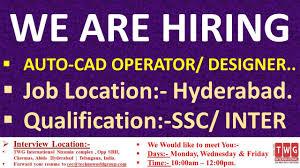 Cad Design Jobs In Hyderabad We Are Hiring Autocad Operator Designer Job Location