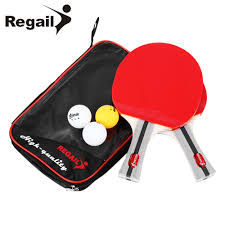 Us 15 99 Regail 8020 Shake Hand Grip Table Tennis Racket Ping Pong Paddle Pimples In Rubber Ping Pong Racket Racket Pouch 1pair In Table Tennis