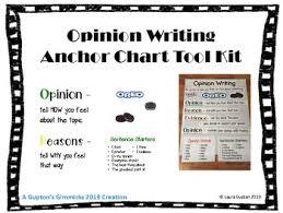 Opinion Writing Oreo Anchor Chart Tool Kit