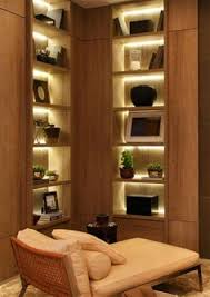 Shelf Lighting Ideas Accent Lighting Warms Up A Dark Corner Shelf Ideas
