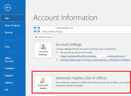 Automatic Respond How To Master Outlooks Out Of Office Automatic Replies Windows