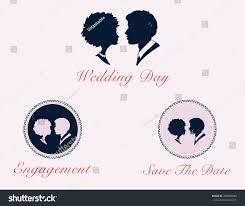 Silhouette Cameo Vector Couple Profiles Pretty Stock Vector