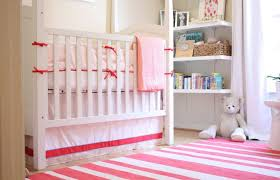 baby bedroom cute baby girl nursery room decoration pink with white convertible baby crib also furniture