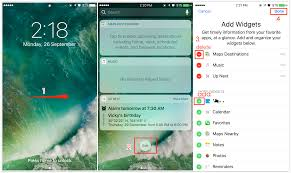 How to Add or Remove Wid s to iOS 10 Lock Screen