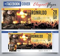 special guest dj ronaldo club and party free flyer psd template facebook cover