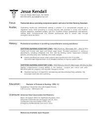 Objective For Certified Nursing Assistant Resume Best of Cna Resumes Examples Directory Resume