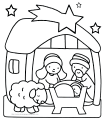 Christmas Coloring Pages Jesus Free Library Creativeinfotechinfo