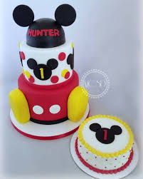 Mickey Mouse 1st Birthday Cake Designs First Blue Topper Smash