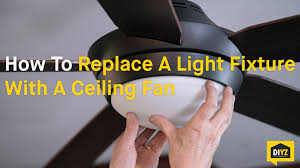 replacing a ceiling fan with a light fixture seicom