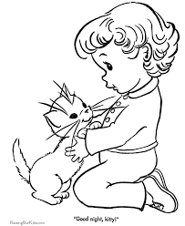Small Picture Kitten and Cat Coloring Sheets