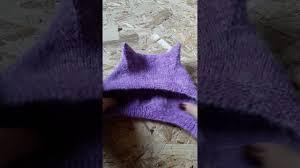Детская шапка с ушками спицами. Как связать?! Теория (<b>Kitty</b> Cap ...