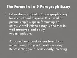 Simple 5 Paragraph Essay Examples The Format Of A 5 Paragraph Essay By 24 H Write My