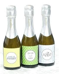 Flair Template Printable Personalized Mini Champagne Bottle Labels By Flair Wedding