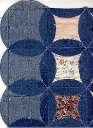 circle blue jeans quilt - denim quilt gallery - quilters recycle ... & ... circle jeans layout Adamdwight.com