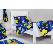 dino night design toddler cot bed duvet cover set matchingbedrooms uk