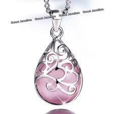 uk gifts for her 925 silver pink opal moonstone necklaces xmas lady girl women