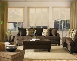 Ottoman Living Room Beige Comfy Sofa With Ottoman Beige Rug Wooden Laminate Floor