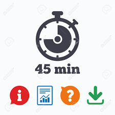 Download Timer Timer Sign Icon 45 Minutes Stopwatch Symbol Information Think