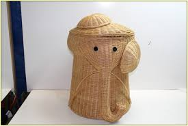 snazzy natural rattan Elephant Wicker Hamper for elegant Home furniture  Design Ideas with top closed for