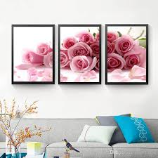 2018 pink rose wall art canvas painting posters and print flowers wall print wall pictures cuadros no poster frame hd2128 from yyz123456 23 86 dhgate  on pink rose canvas wall art with 2018 pink rose wall art canvas painting posters and print flowers