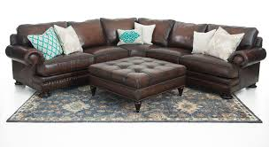 bernhardt foster 2 piece leather sectional weirs furniture intended for the elegant bernhardt leather sofa regarding