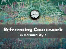 referencing coursework in harvard style