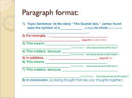 "the scarlet ibis pg by james hurst ppt video online  3 paragraph format topic sentence in the story ""the scarlet ibis"