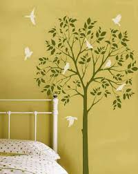 image of tree stencils for walls