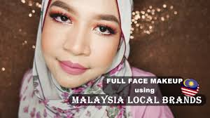 full face using local brand makeup msia