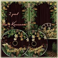 Free Christmas Dvd Cover Template Psd And Christmas Disk Psd