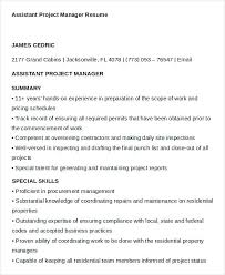 Assistant Project Manager Resume - Kleo.beachfix.co