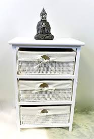 Homezone® 3 Tier <b>Bedside Cabinet Multiple</b> Drawer Shabby Chic ...