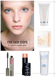 a no makeup makeup look for summer in five easy steps the style