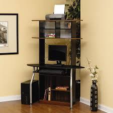 corner desk with shelves interior small corner computer desk style brown wood decor cast iron frame