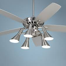 silver ceiling fan with light modern ideas dlrn design intended for the most incredible as well