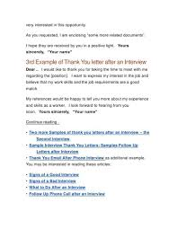 Thank You After Interview Template 033 I Am Very Sample Post Interview Letter Job Thank You