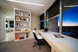 apartment home office. Colorful Modern Apartment Interior Design : Amazing  Home Office Grey Carpet White Apartment Home Office