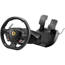 thrustmaster playstation 4 t80 ferrari 488 gtb edition racing wheel sit behind the wheel with the