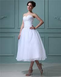 Vintage Weiß Brautkleider Kurz A Linie Organza Hochzeitskleider ...