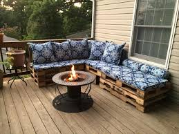 Outdoor Pallet Deck Furniture Pallet Couch For Patio Outdoor Deck
