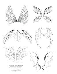 Printable Fairy Wings Template