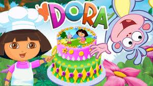 Dora Cake Decor Online Game Bake A Birthday Cake With Dora The