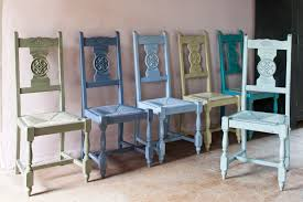 French Country White Wash Carved Wood Rush Dining Chairs  Set Of Country Style Chairs