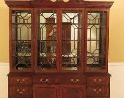 large china cabinet.  Large 45124EC HENKEL HARRIS 2377 Large Mahogany Breakfront China Cabinet Intended I