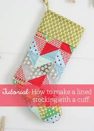 Quilted Christmas Stocking Pattern Adorable Stocking Tutorial Cluck Cluck Sew