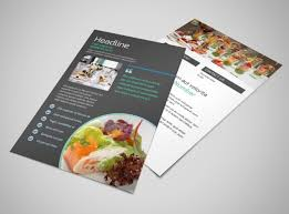 Fine Dining Catering Flyer Template Mycreativeshop