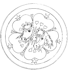 Coloring Page Mandala And Horse Emerson And Kyndra Would Love This
