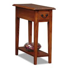 com leick chair side end table um oak finish kitchen dining